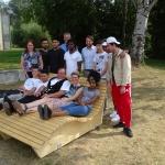 Im Rahmen unseres Flüchtlingsprojektes haben wir unseren Azubi Tijan (hinter Andreas Wiedmer) kennengelernt